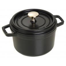 Staub Round Cocotte 16 cm, Black 40509-480-0 - 1