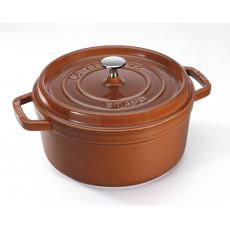 Staub Round Cocotte 22 cm, Cinnamon  40511-295-0 - 1