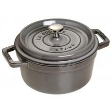 Staub Round Cocotte 22 cm, Graphite grey 40509-307-0 - 1