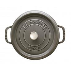 Staub Round Cocotte 22 cm, Graphite grey 40509-307-0 - 2