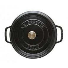 Staub Round Cocotte 22 cm, Black  40509-305-0 - 2