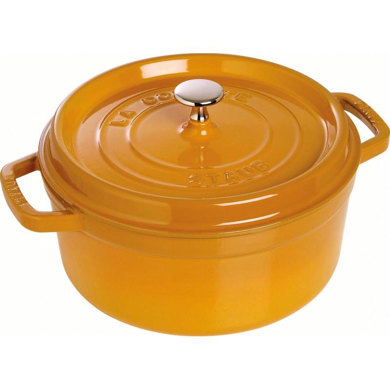 Staub Round Cocotte 22 cm, Mustard  40510-646-0 - 1