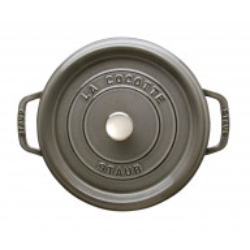 Staub La Cocotte Pata Pyöreä 20 cm, Grafiitinharmaa  40509-304-0 - 2