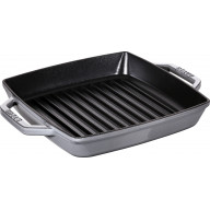 Pan Staub Cast Iron Grill square 23 cm, Graphite grey 40511-729-0