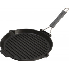 Sartén Staub Cast Iron Grill Pan round 27 cm, Black 40509-426-0