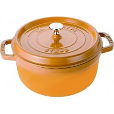 Staub Round Cocotte 24 cm, Mustard 40510-650-0