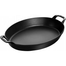Baking dish Staub oval 37 cm, Black 40508-283-0