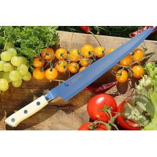 Sujihiki Japanese kitchen knife Mcusta Zanmai Classic Damascus SPG5 HKC-3010D 24cm