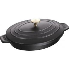 Staub Oval Covered 23x17 cm, Black 40509-582-0 - 1