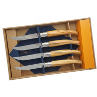 Steak knife Opinel Box of 4, olive ОО1830 10cm