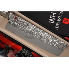 Nakiri Japanese kitchen knife Kasumi HM 74017 17cm - 2