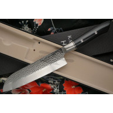 Santoku Japanese kitchen knife Kasumi HM 74018 18cm