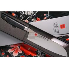 Santoku Japanese kitchen knife Kasumi VG10 Pro 54018 18cm