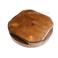 Cutting board etúHOME Cross Cut Round Trivet RMA521ES6 - 2