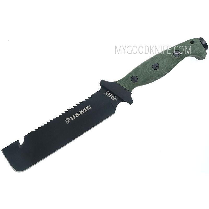 Selviytymisveitsi USMC Jarhead Fixed Blade, vihreä 805319617501 17cm - 1