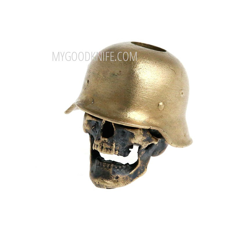 Helmi skull in hard hat, bronze sk2hhb - 1