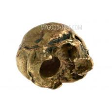 Бусина на темляк Череп бронзовый, маленький sk2 - 2