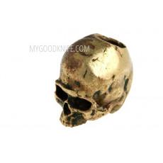 Бусина на темляк Череп бронзовый, маленький sk2 - 5