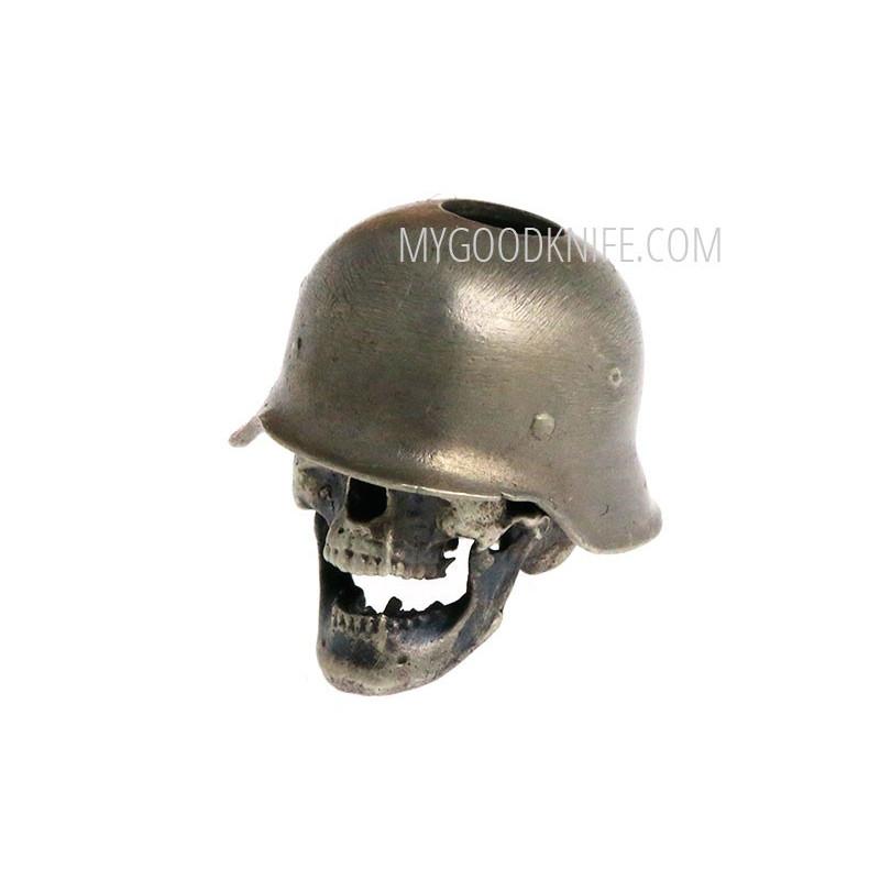 Helmi Skull in hard hat, nickel silver sk1hh - 1