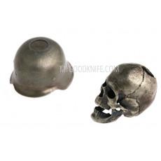 Helmi Skull in hard hat, nickel silver sk1hh - 2