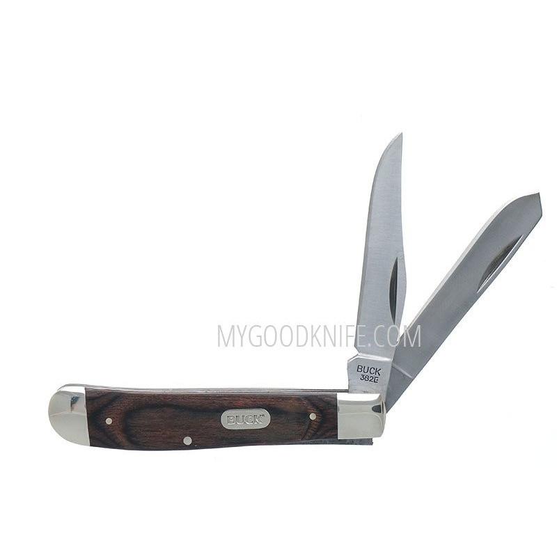 Складной нож траппер Buck 382 Trapper  0382BRS-B 7см - 1