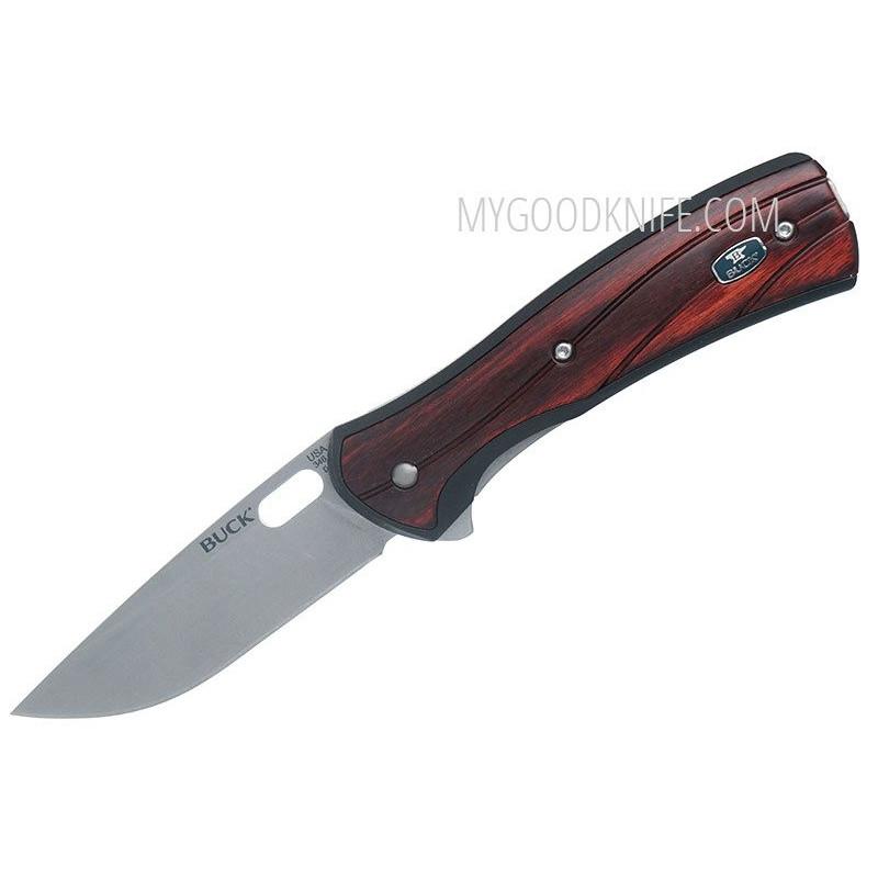 Складной нож Buck 346 Vantage Large, розовое дерево 0346RWS-B 8.3см - 1