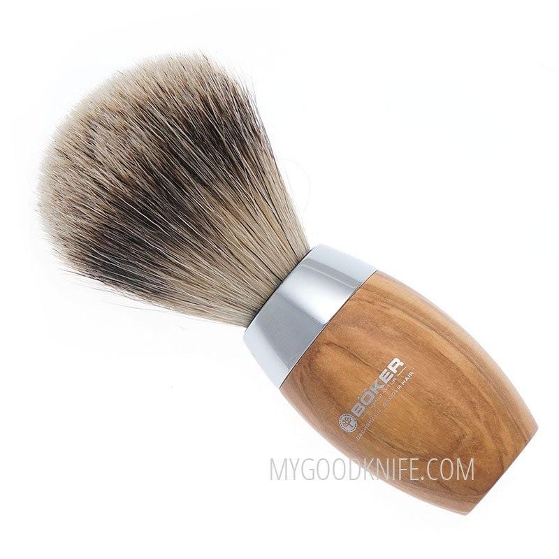Böker Shaving Brush Olive wood 04BO124 - 1