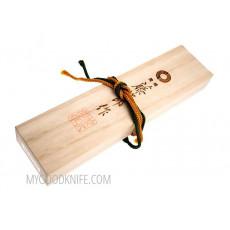 Охотничий/туристический нож Tojiro Sado в подарочной коробке  HMHS-012D 14см - 5