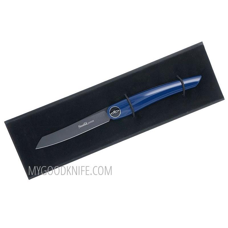 Steak knife Nesmuk JANUS Folder, Blue Piano Lacquer  FJKB2014 8.5cm - 1