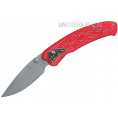 Navaja United Cutlery Nova Skull A/O Linerlock Pocket Knife, red UC2691 8.9cm