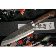 Santoku Japanese kitchen knife Takeshi Saji Iron Wood HG-3104 18cm - 2