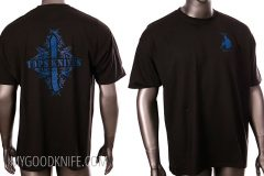 Tactical knife tops t-shirt tribal art (xxl)