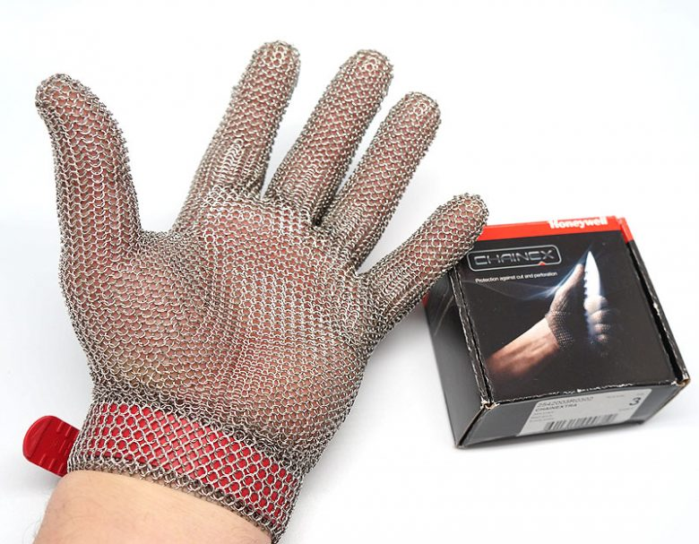 Photo #2 Cut-resistant glove (stainless-steel) Honeywell