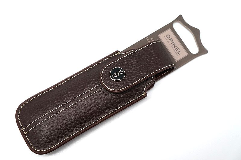 Photo #2 Opinel Chic Brown Leather Knife Sheath  (001547)