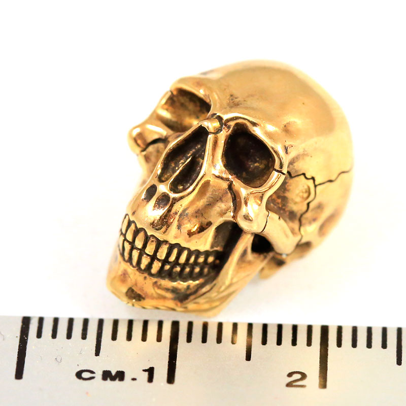 "Photo #7 Lanyard Bead ""Skull"" (nickel silver)"