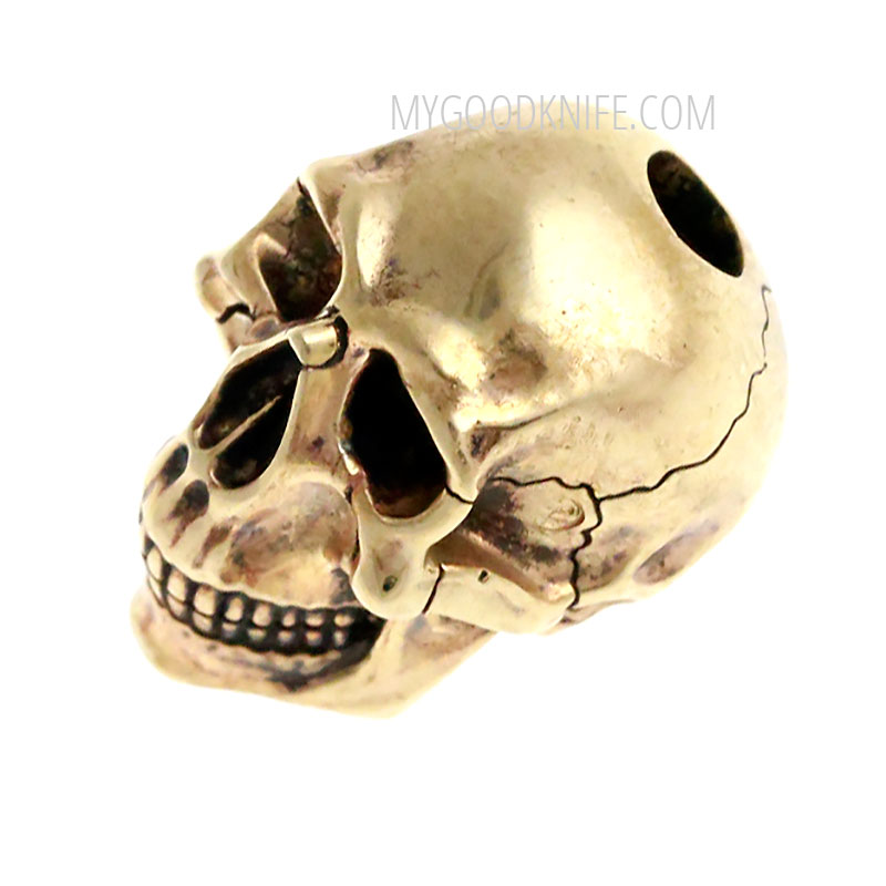 "Photo #2 Lanyard Bead ""Skull"" (nickel silver)"