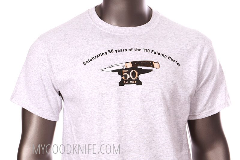 Photo #3 Buck T-shirt Celebrating 50 years of the 110 Folding Hunter (XXL)