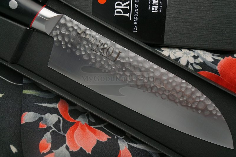 Photo #2 Santoku Japanese kitchen knife Seki Kanetsugu Pro-J  6003 17cm