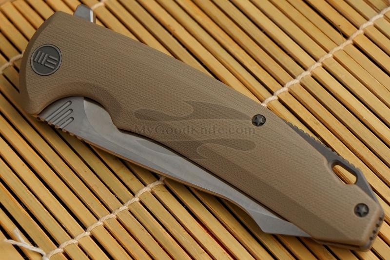 Фотография #3 Складной нож We Knife Satin, Tan 617F 10см