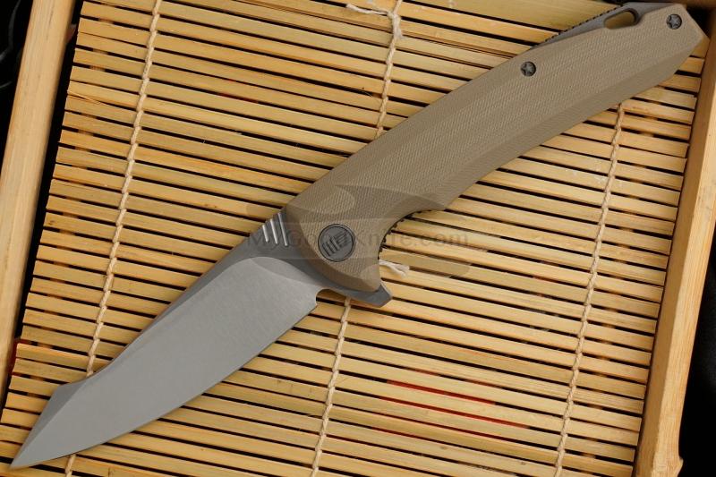 Фотография #1 Складной нож We Knife Satin, Tan 617F 10см