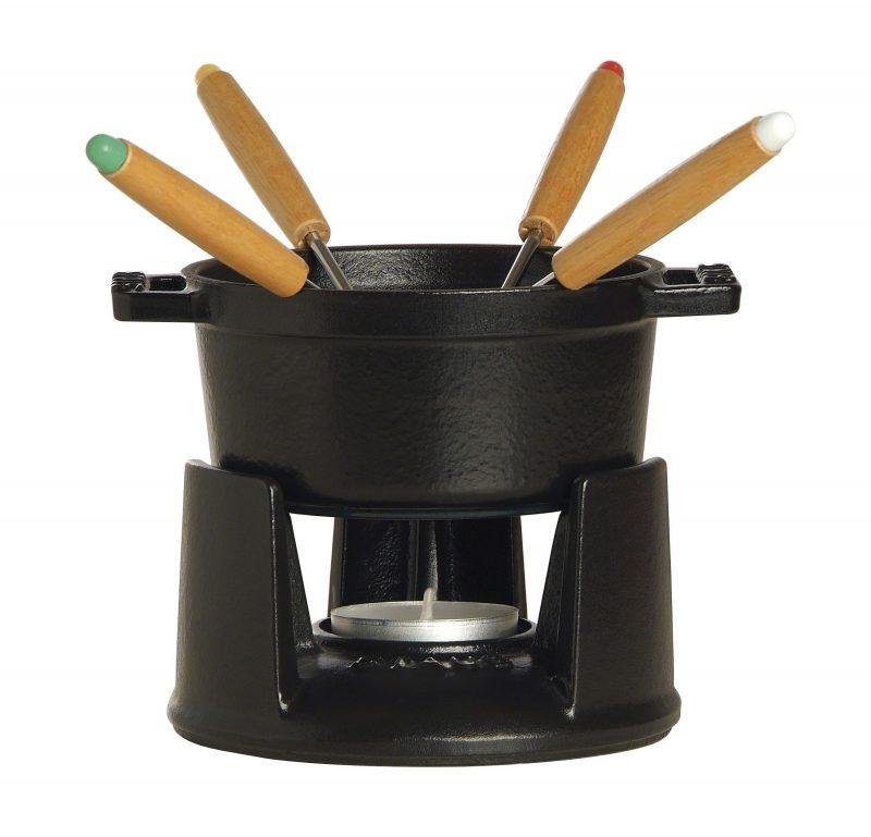 Photo #1 Staub Round Mini Fondue set, black 1400423