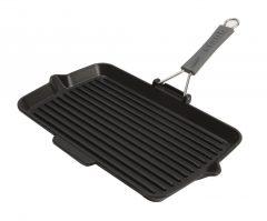PanStaub Cast Iron Grill Pan rectangular 34 cm, Black 40509-343-0