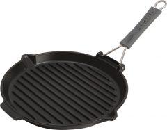 PanStaub Cast Iron Grill Pan round 27 cm, Black 40509-426-0