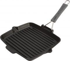 PanStaub Cast Iron Grill Pan square 24 cm, Black 40509-344-0