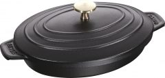 Staub Oval Covered Baking Dish 23x17 cm, Black 40509-582-0