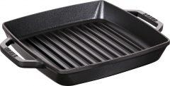 PanStaub Cast Iron Grill Pan square 23 cm, Black 40511-728-0