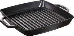 PanStaub Cast Iron Grill Pan square 28 cm, Black 40511-683-0