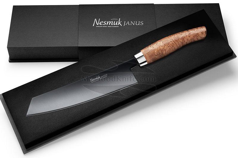 Фотография #2 Поварской нож Nesmuk JANUS Эвкалиптовый кап 18см
