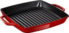 PanStaub Cast Iron Grill Pan square 28 cm, Cherry 40511-685-0