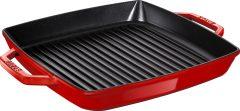 PanStaub Cast Iron Grill Pan square 33 cm, Cherry 40511-784-0